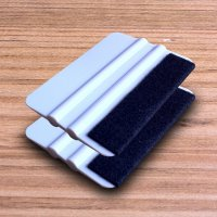 Pack of 2 Felt Edge Plastic Squeegees