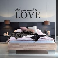 All you need is Love Bedroom Vinyl Wall Art Sticker