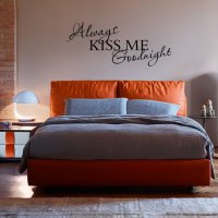 Always Kiss Me Goodnght Bedroom Vinyl Wall Art Sticker