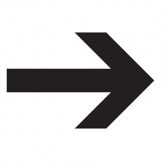 Direction Arrow Vinyl Sticker