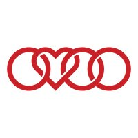 Audi Heart Rings Vinyl Sticker
