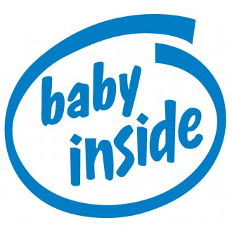 Baby Inside Vinyl Sticker