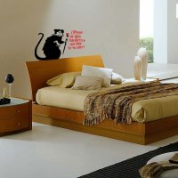 Banksy Out of Bed Rat Vinyl Wall Art Sticker
