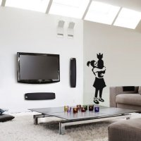 Banksy Bomb Hugger Vinyl Wall Art Sticker