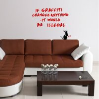 Banksy Graffiti Rat Vinyl Wall Art Sticker