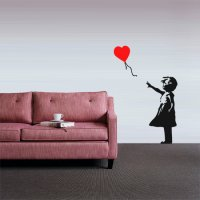 Banksy Heart Balloon Girl Vinyl Wall Art Sticker