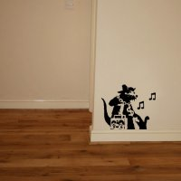 Banksy Music Rat Vinyl Wall Art Sticker