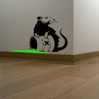 Banksy Toxic Rat Vinyl Wall Art Sticker
