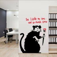 Banksy So Little To Say Rat Vinyl Wall Art Sticker