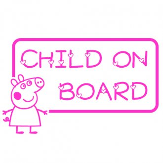 "Peppa Pig ""Child on Board"" Vinyl Sticker"
