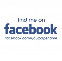 Customised find me on Facebook Sticker