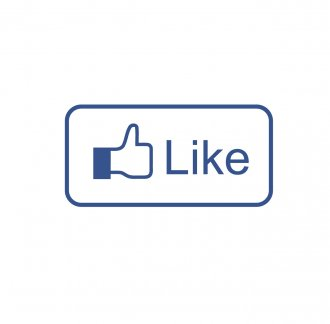 Facebook Like Vinyl Sticker