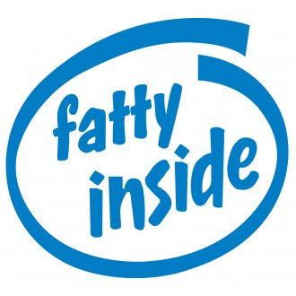 Fatty Inside Vinyl Sticker