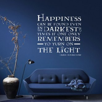 Happiness Can Be Found Harry Potter Quote Vinyl Wall Art Sticker