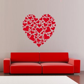 Heart of Hearts Vinyl Wall Art Sticker