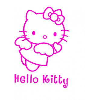 Hello Kitty Angel Vinyl Sticker