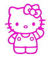 Hello Kitty Waving Vinyl Sticker