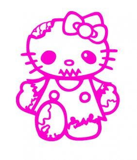 Hello Kitty Zombie Vinyl Sticker