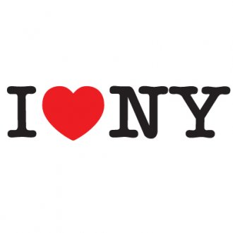 I Love New York Vinyl Sticker 2 (I Love NY)