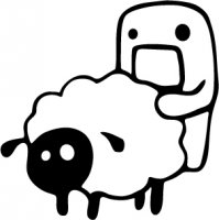 JDM Domo Kun Sheep Vinyl Sticker