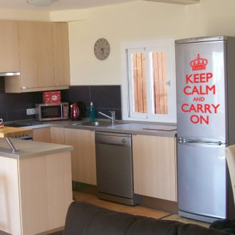 Keep Calm and Carry On Kitchen Vinyl Wall Art Sticker