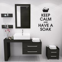 Keep Calm And Have A Soak Bathroom Vinyl Wall Art Sticker