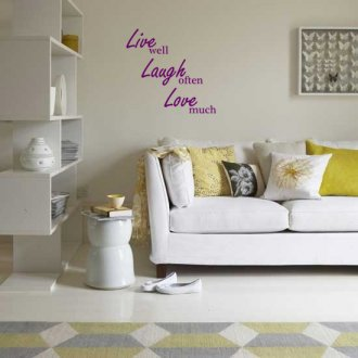 Live, Laugh, Love Living Room Vinyl Wall Art Sticker
