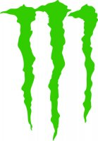 Monster Energy Scratches Vinyl Sticker