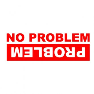 No Problem, Problem 4x4 Vinyl Sticker