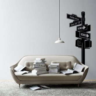 New York Street Sign Vinyl Wall Art Sticker