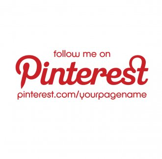 Customised follow me on Pinterest Sticker