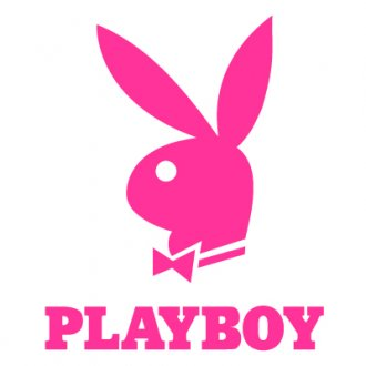 Playboy Bunny & Text Vinyl Sticker