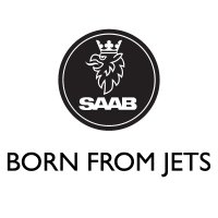 SAAB Born From Jets Vinyl Sticker 2