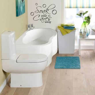 Soak Your Cares Away Bathroom Vinyl Wall Art Sticker