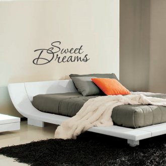 Sweet Dreams Bedroom Vinyl Wall Art Sticker