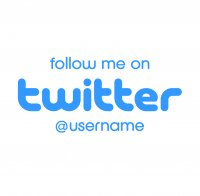 Customised follow me on Twitter Sticker