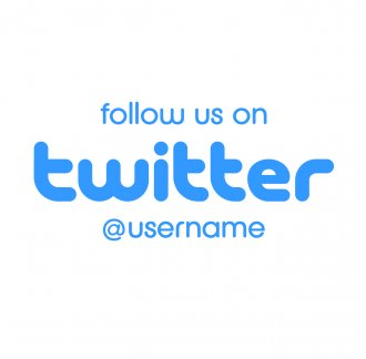 Customised follow us on Twitter Sticker