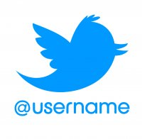 Customised Twitter Username Sticker