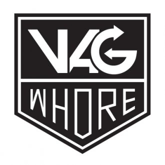 Vag Whore Vinyl Sticker (1 colour)