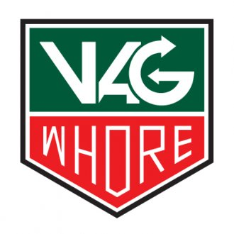 Vag Whore Vinyl Sticker (3 colour)