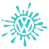 Volkswagen VW Splat Vinyl Sticker 1