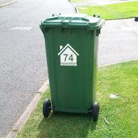 Wheelie Bin Numbers with Road Name (House)