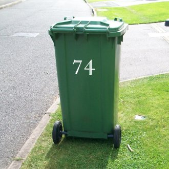 Wheelie Bin Numbers (Type 1)