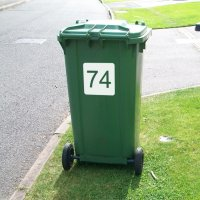 Wheelie Bin Numbers (Square)