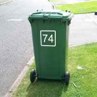 Wheelie Bin Numbers (Square Outline)