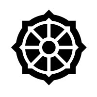 Wheel of Dharma (Buddhist Symbol) Vinyl Sticker