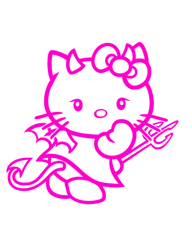 Hello Kitty Devil Vinyl Sticker