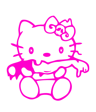 Hello Kitty Zombie 2 Vinyl Sticker