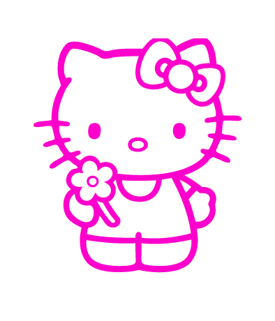Hello Kitty Flower Vinyl Sticker