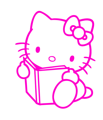 Hello Kitty Reading Sticker